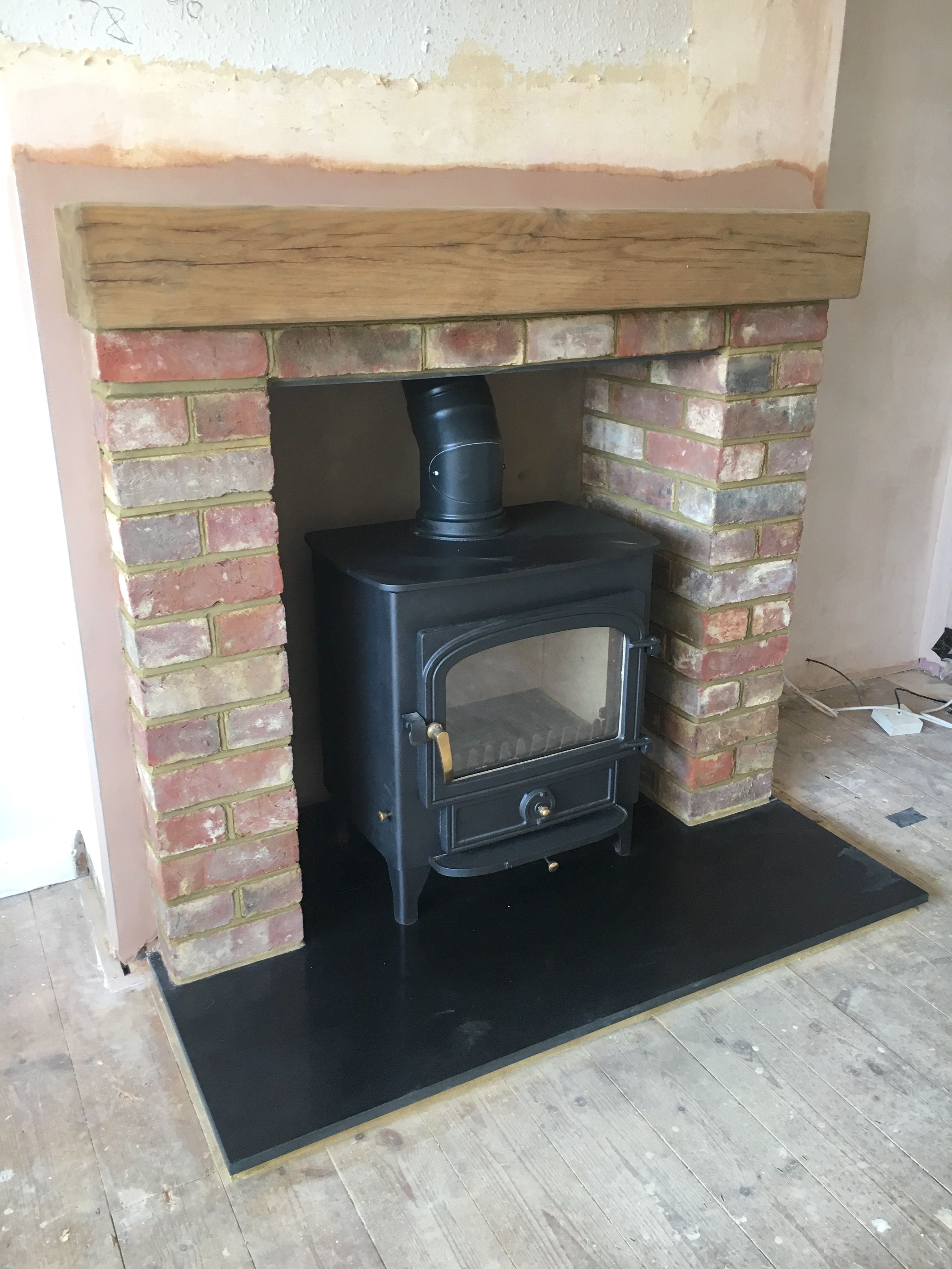 Amazing Clearview Wood Stove With Rebuilt Fireplace And New Honed Granite Hearth Like Granite Hearth Wood Stove Fireplace Remodel