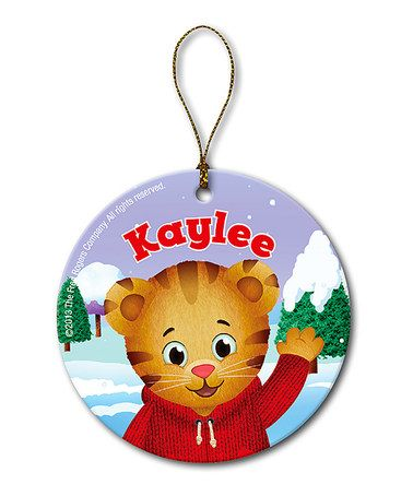 Another great find on #zulily! Daniel Tiger's Neighborhood Christmas Personalized Ornament #zulilyfinds