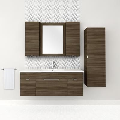 The Textures Collection In Driftwood Looks Excellent As A Set Wouldn T You Agree Wall Mounted Bathroom Cabinets Wall Hung Bathroom Vanities Wall Hung Vanity