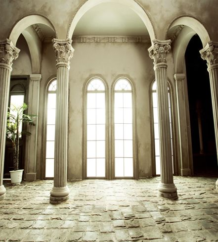 8x12ft Indoor Window Column Arch Door Antique White House Bricks Floor Photography Studio Backgro Studio Backdrops Photography Studio Background Cheap Backdrop