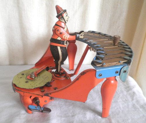 Old Tin Wolverine Zilotone Vintage Wind Up Musical Toy | eBay