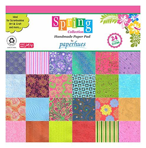 Paperhues Spring Blossom Collection 12x12 Pad 24 Sheets Decorative Specialty Handmade Origami Papers for Gift Wrap Cards Scrapbooking Decor Art and Craft Projects * Check out the image by visiting the link.Note:It is affiliate link to Amazon.