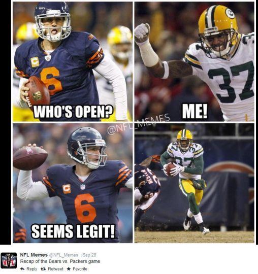 Green Bay Packers Vs Chicago Bears Memes Google Search Packers Funny Nfl Funny Packers Memes