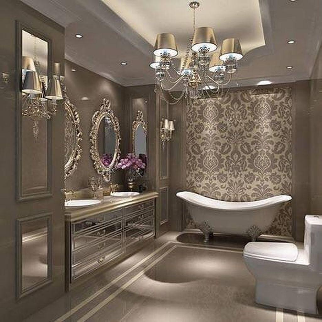 50 Stunning Luxury Apartment Bathroom Design Decoration Ideas Luxus Badezimmer Luxuriose Inneneinrichtung Luxus Interieur