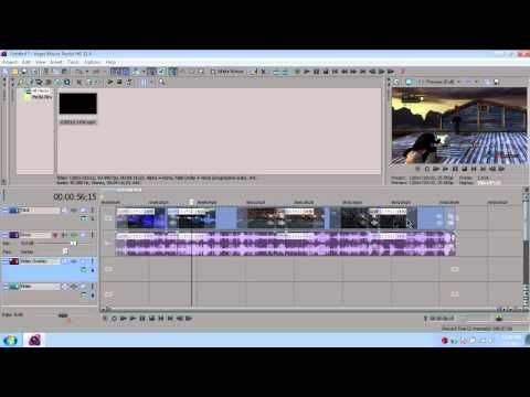 how to move a video in sony vegas