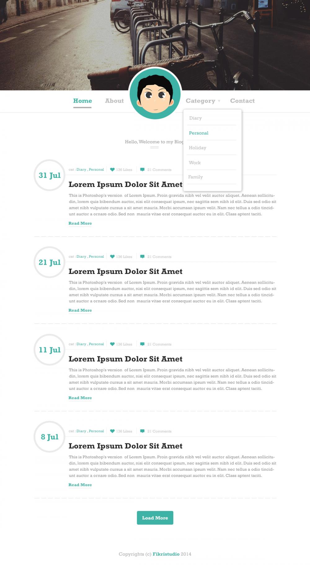 Simple Blog Website Template | Web Design Idea | Pinterest