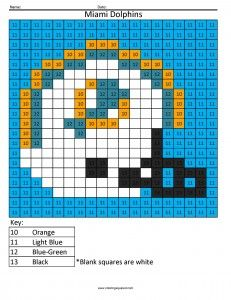 Miami Dolphins  Color By Number