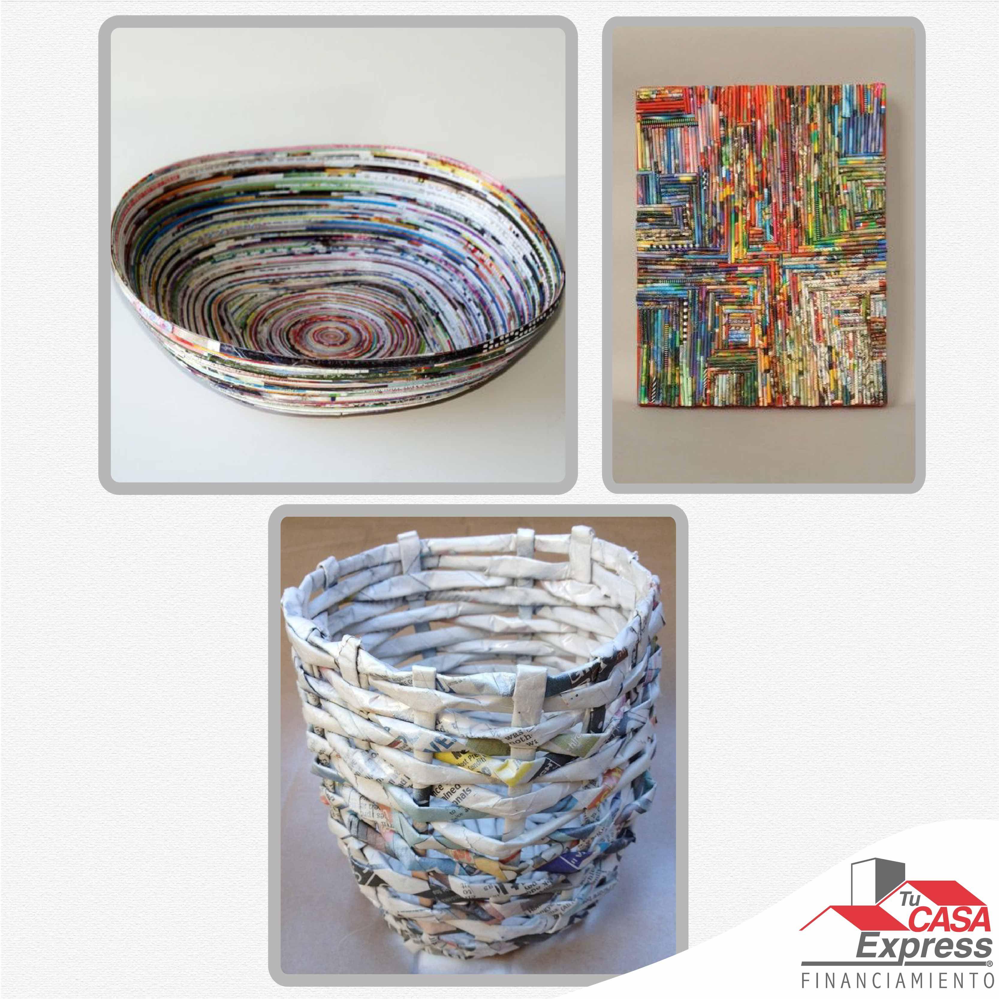 3 ideas para reciclar papel y crear objetos para tu hogar for Objetos para el hogar