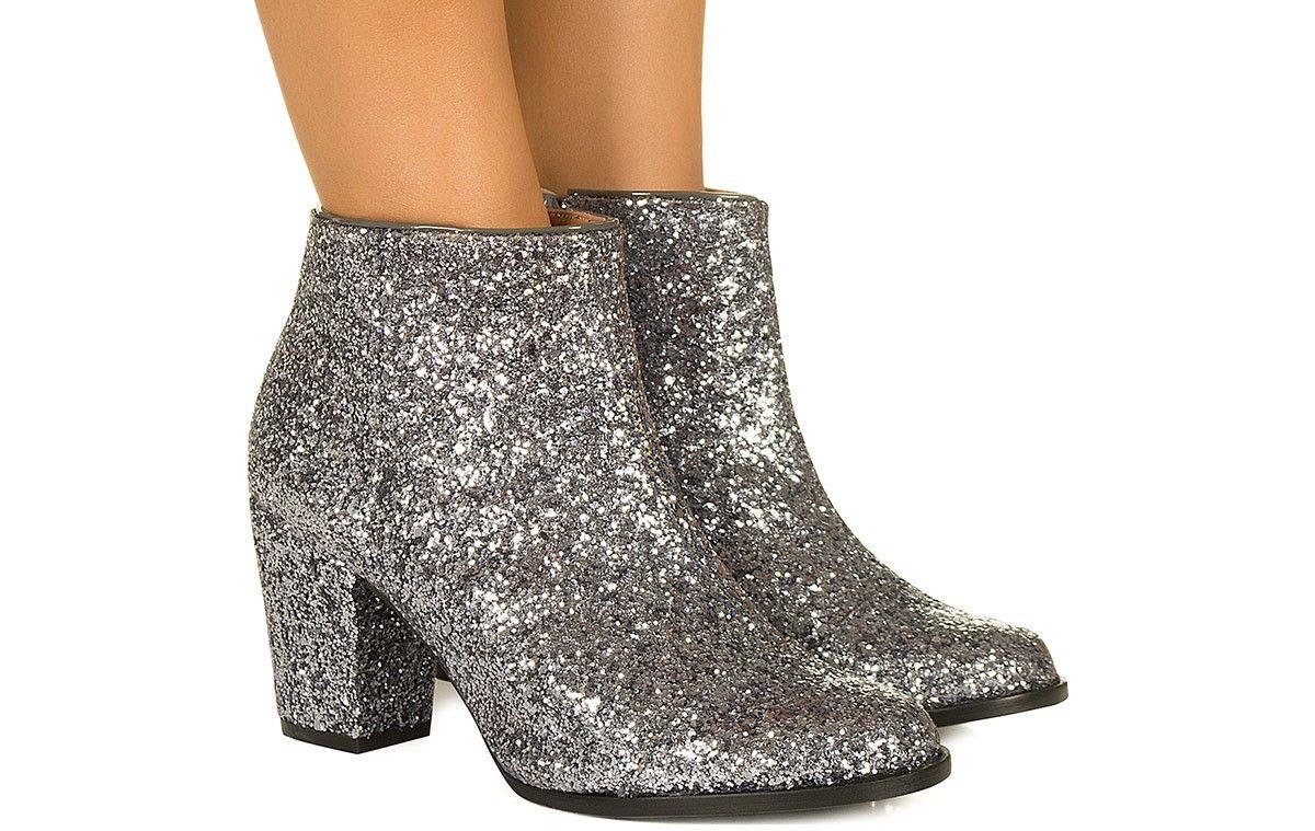 768435bab Bota de glitter grafite Taquilla - Taquilla - Loja online de sapatos  femininos