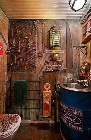 man cave bathroom. Beautiful Bathroom Now This Would Be A Cool  And Man Cave Bathroom