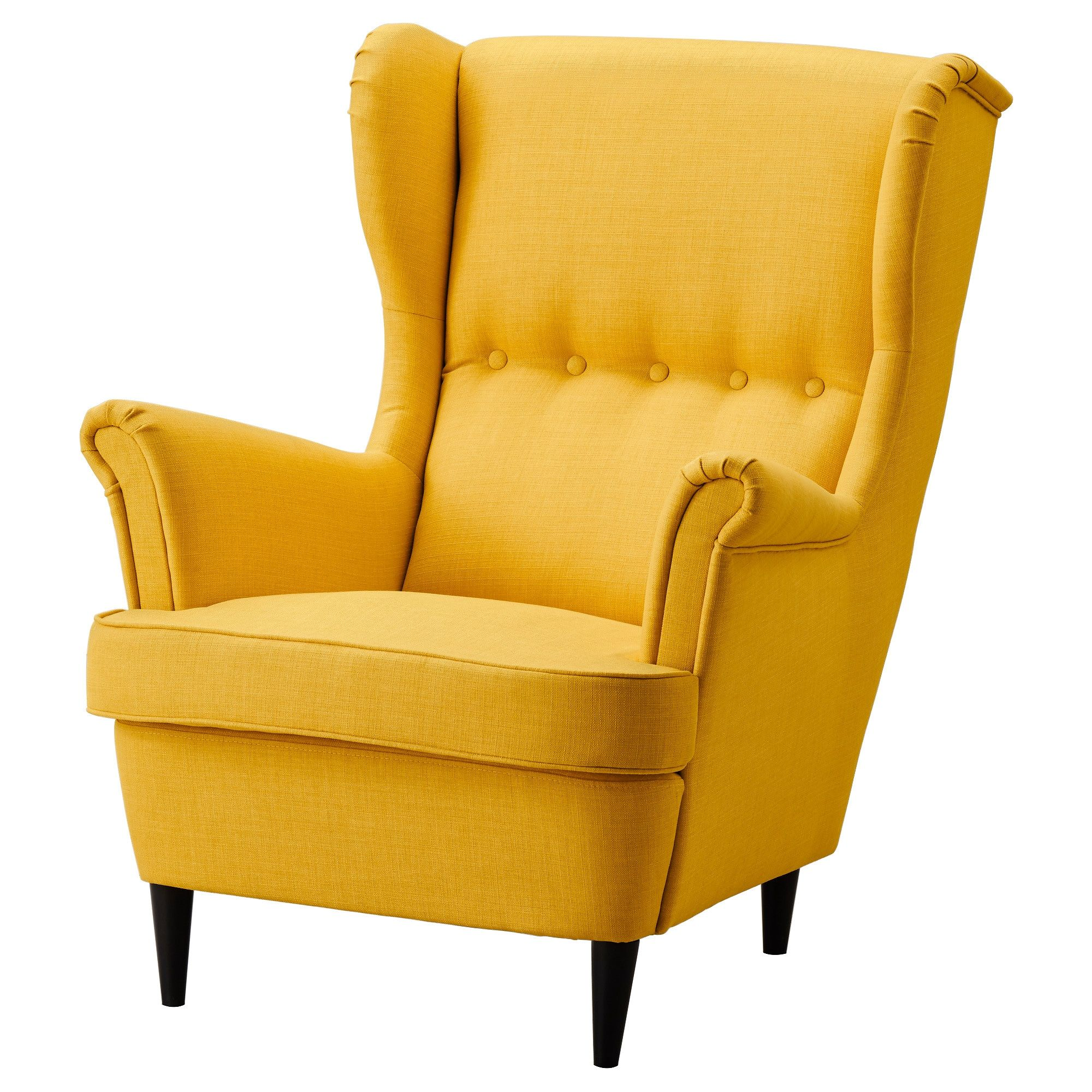 STRANDMON Wing chair Skiftebo yellow (With images