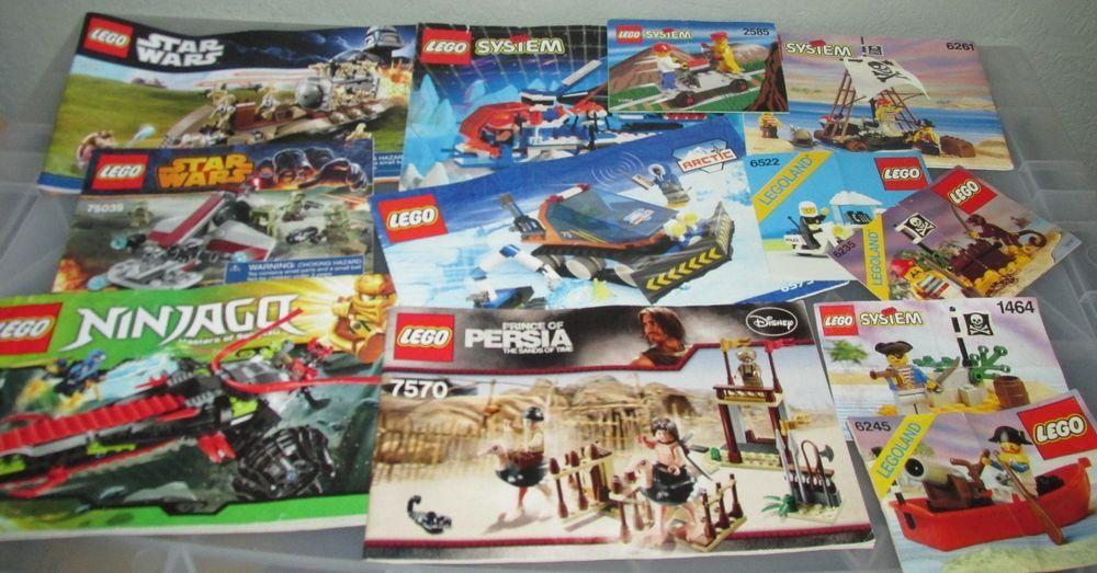 LEGO instructions Lot 12 Books,star wars,System Pirates,Ninjago,City,Persia #LEGO