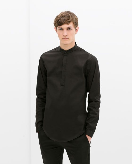 hot new products wholesale outlet outlet CHEMISE COL MAO de Zara | Chemise col mao homme, Chemise col ...