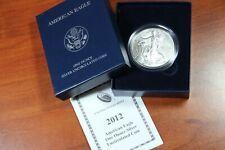 2014-W Burnished American Silver Eagle with Box /& COA