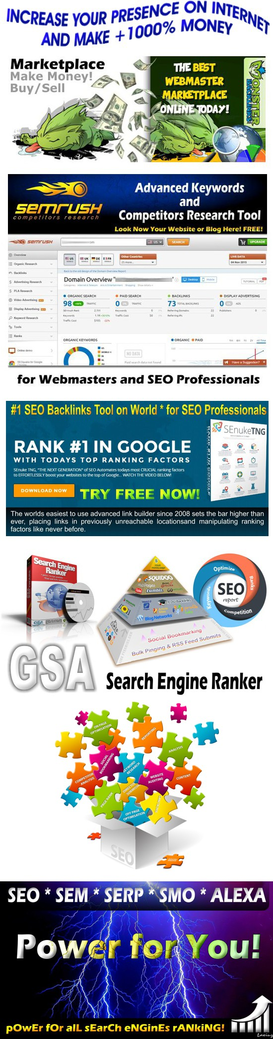 SEO and Marketing Tools on: http://freeseotools.wixsite.com/free-seo-tools * Top…