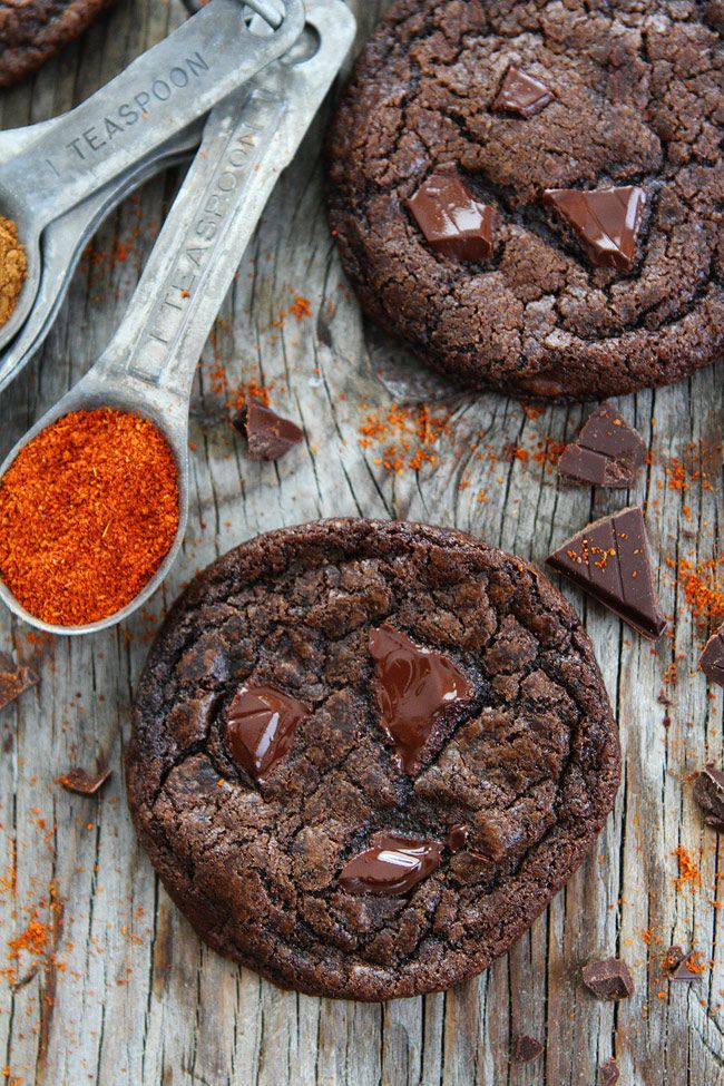 Dark Chocolate Chili Cookie Recipe On Twopeasandtheirpod Com Rich Chocolate Cookies With A Hint Of Cinnamon Spicy Chocolate Dark Chocolate Recipes Eat Cookies