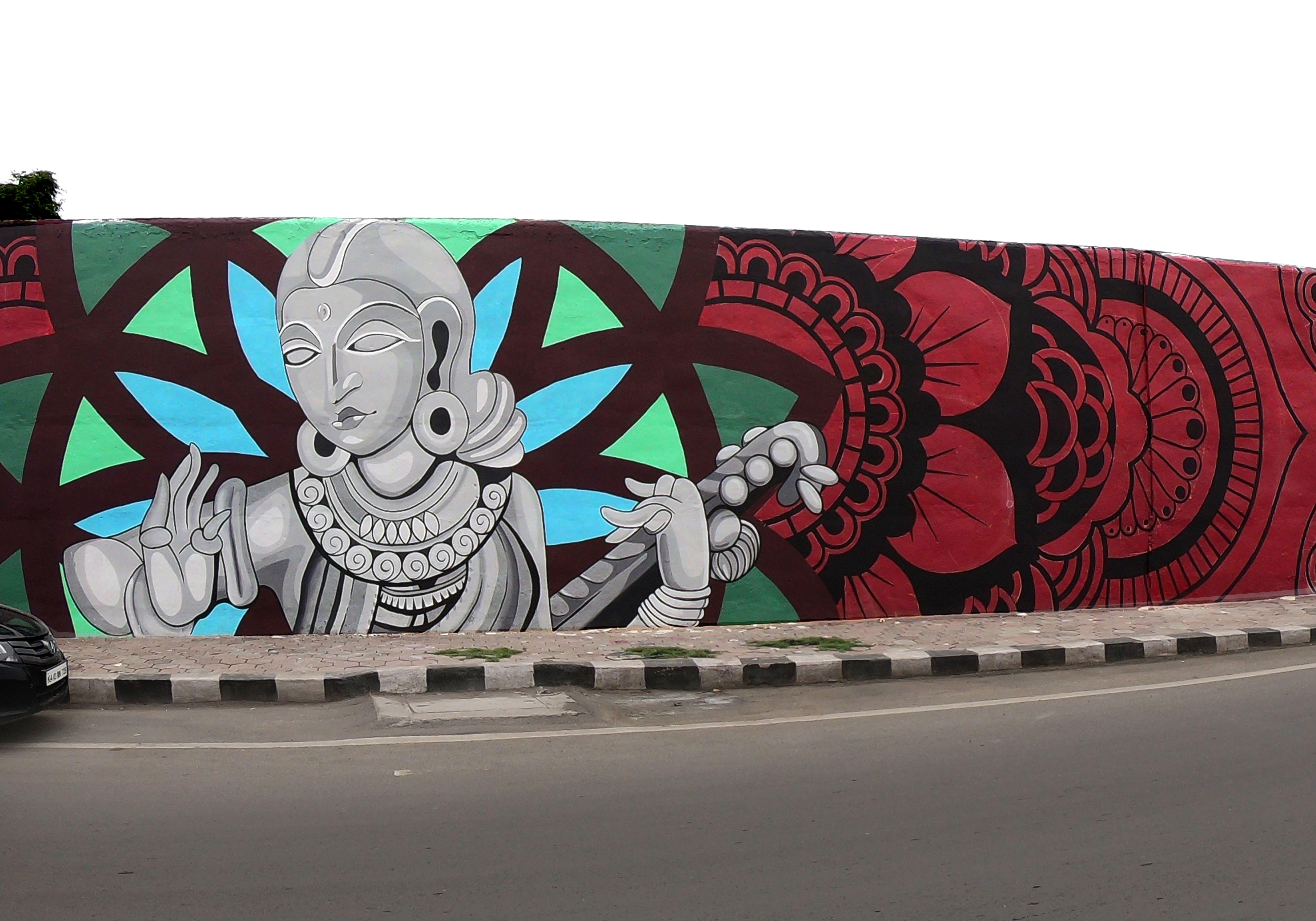 Indian Streetart At Indore Mural Wall Art Diy Art Painting Wall Art