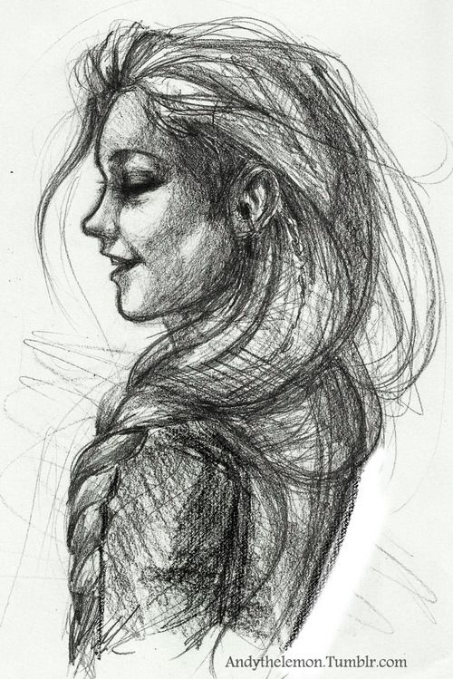 Drawing Of Katniss Laughing A Good Reference For The Side Portion Face Well Shaded An Awesome Done