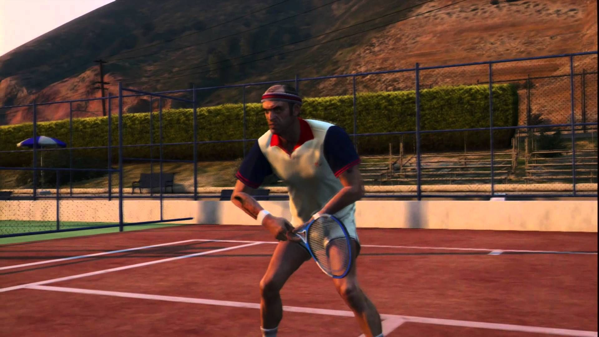 This Is Tennis Hobby Or Pastime In Grand Theft Auto V That Involves Trevor Playing Tennis Against Rae At Chumash Hotel Trevor Play Tennis Gta