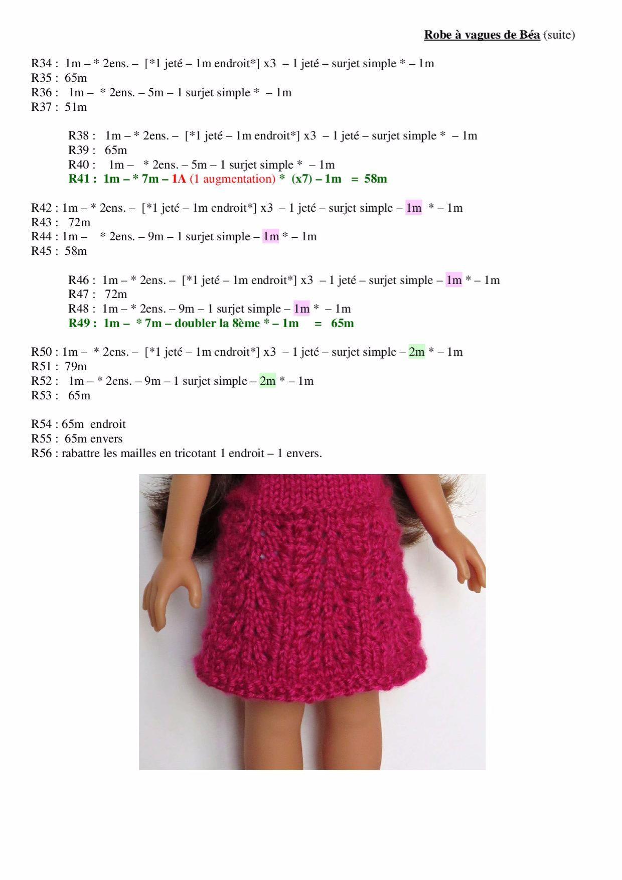 Robe à vagues-Rouge-page-002   Couture   Pinterest