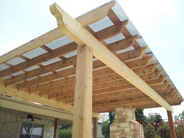Best Polygal Translucent Roofing Pergola With Roof Cedar 640 x 480