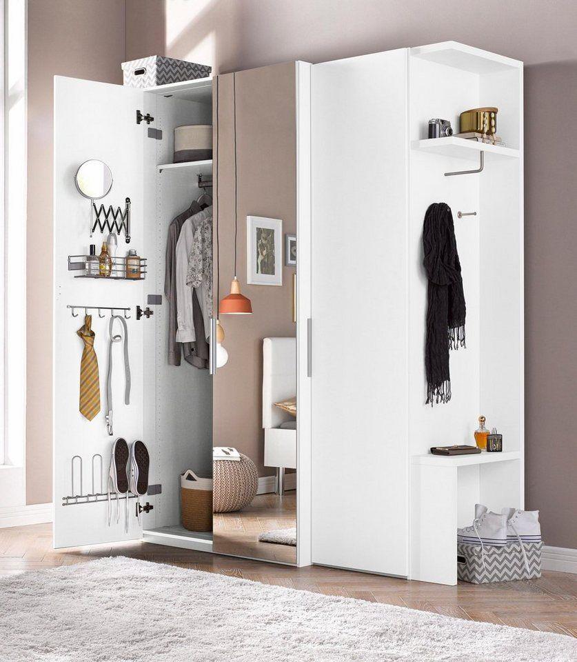 Express Solutions Kleiderschrank Malmo Mit Kofferturen Und