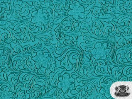 Amazon Com Vinyl Laredo Turquoise Fake Leather Upholstery Fabric By