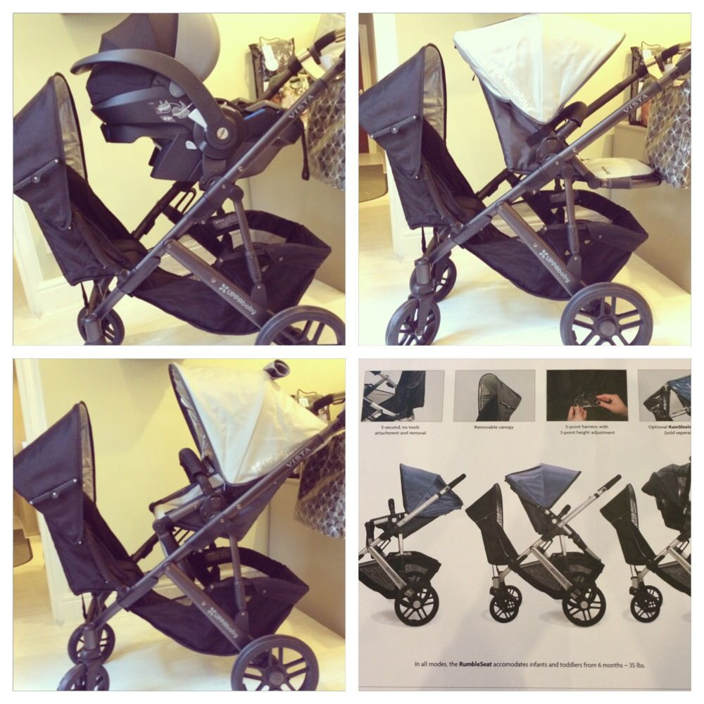 UPPAbaby Vista with RUMBLE SEAT the additional seat