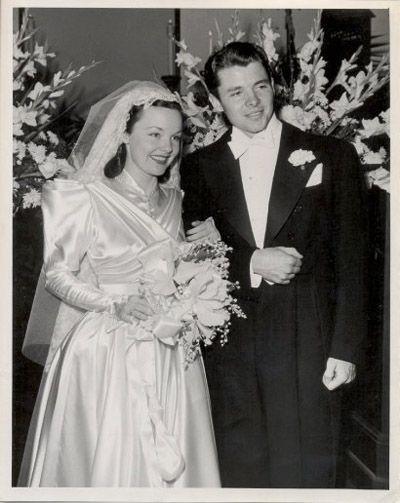 Image result for audie murphy and wanda hendrix wedding