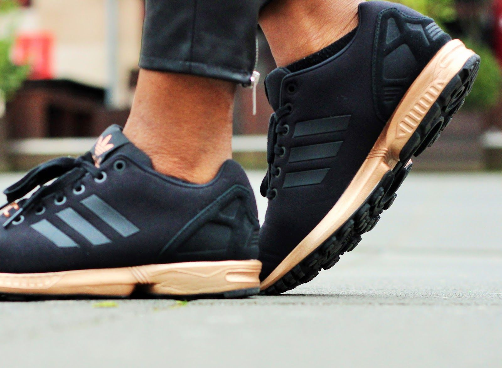 ADIDAS ZX FLUX ROSE GOLD COPPER METALLIC | Sneakers