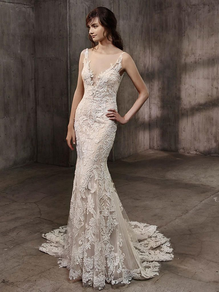 Badgley mischka wedding dress  Badgley Mischka Fall  Ornate Glamorous Wedding Dresses