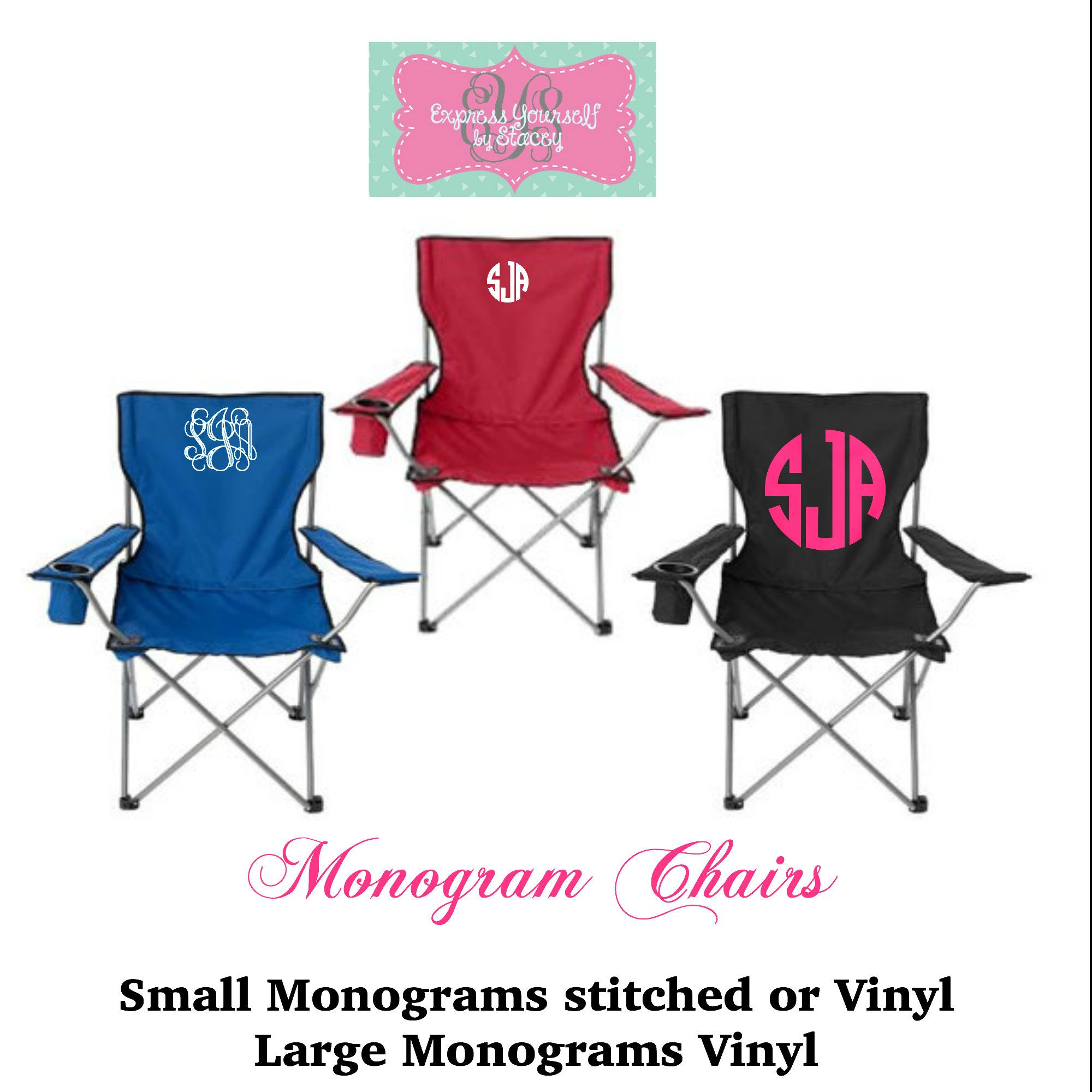 Soccer Mom Covered Chairs Baby Bjorn High Chair Red Monogram Folding Tailgate Camping Coaches Gift