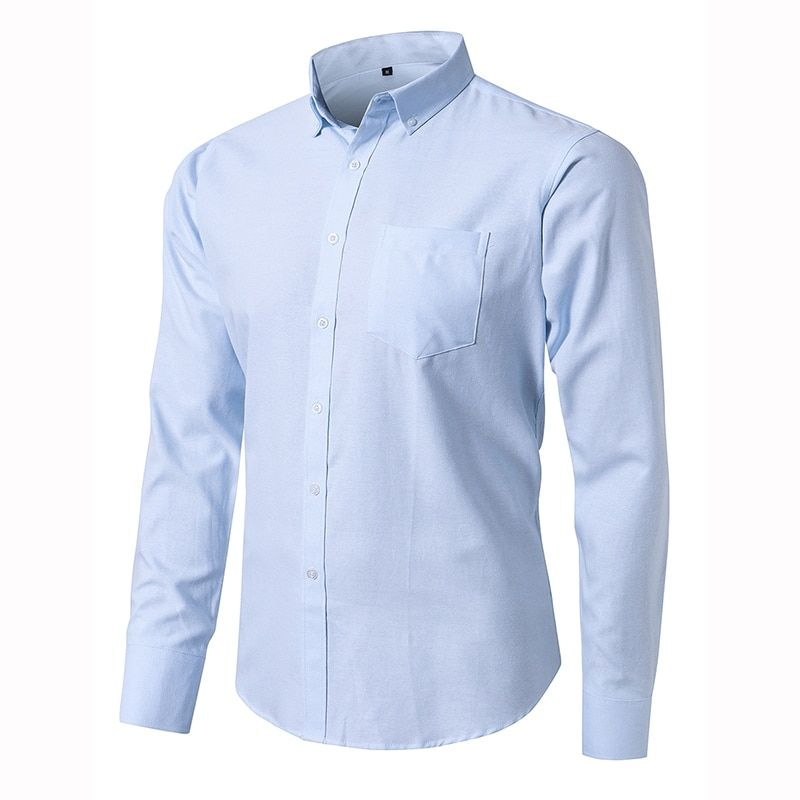 100 Cotton Men S Oxford Shirts High Quality Long Sleeved Button Down Neck Simplicity Soft Clothes Fashion Men Casual Shirt In 2020 Mens Clothing Styles Casual Shirts For Men Casual Shirts