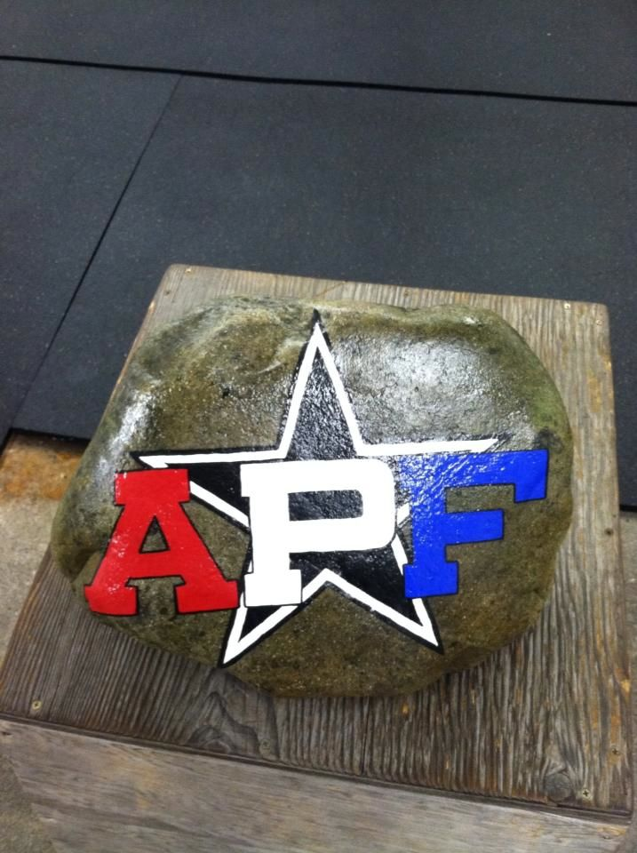 APF rock for All Pro Fitness, my amazing Crossfit gym!