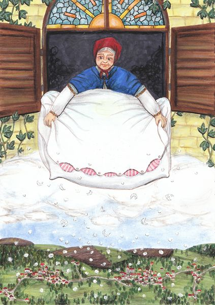 frau holle  fairy tales holle pagan goddess