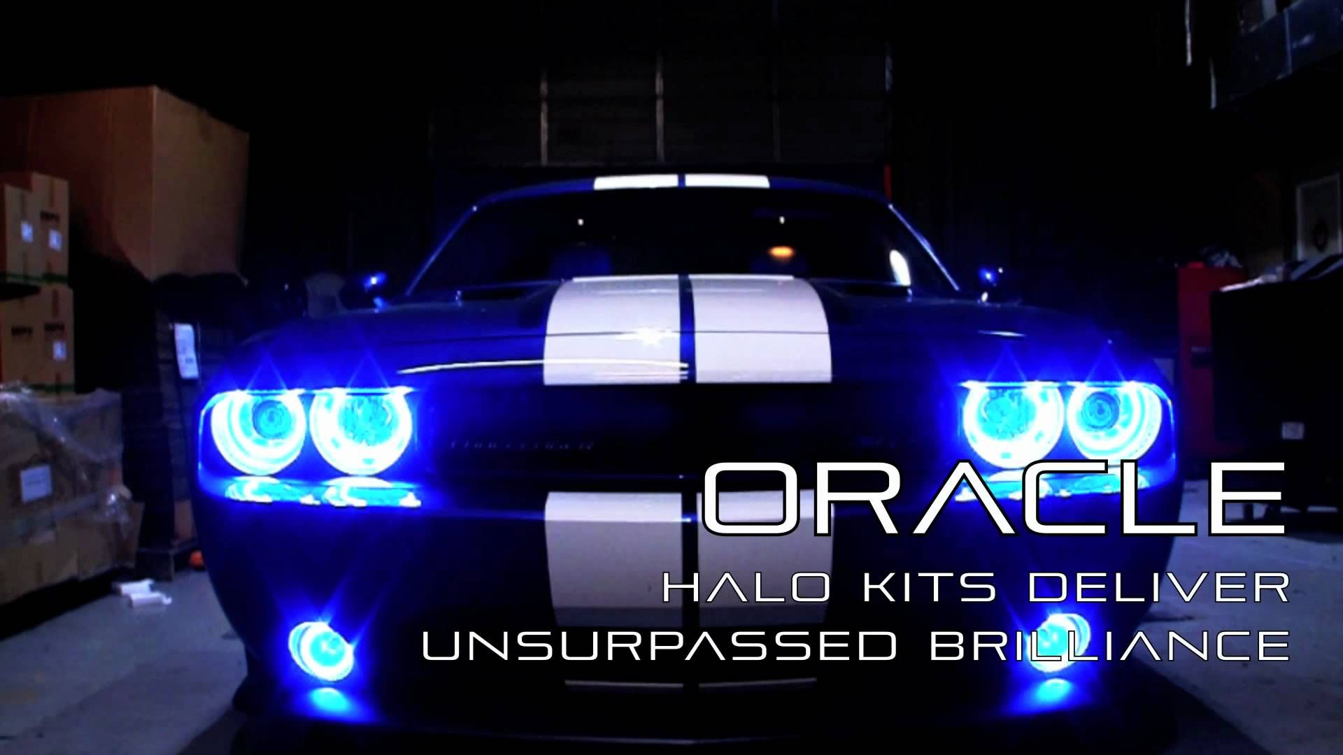 Dodge Challenger 392 Srt With Custom Oracle Halo Lights