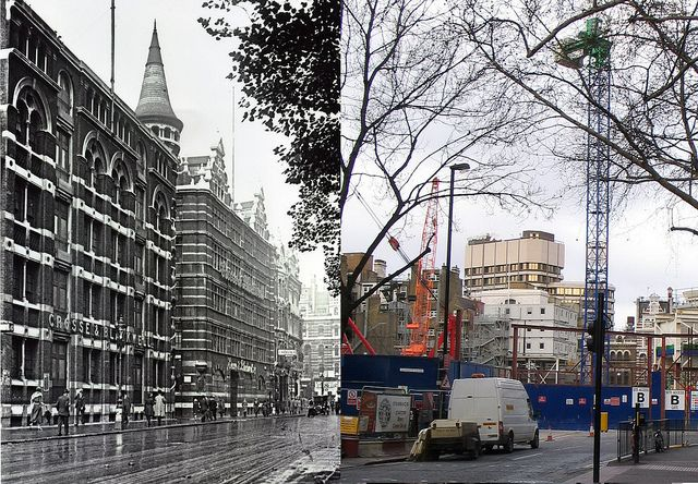 302-Charing Cross Road, Crosse & Blackwell Factory & Warehouse 1920 and 2012 by Warsaw1948, via Flickr