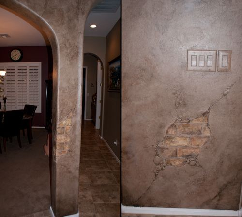 Faux Plaster Finish plaster designs for walls | plaster wall faux finish with exposed