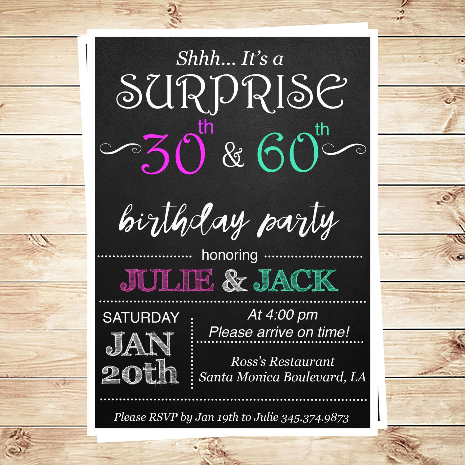 Joint birthday party invitations for adults surprise joint joint birthday party invitations for adults surprise joint birthday party invite for adults editable stopboris Choice Image