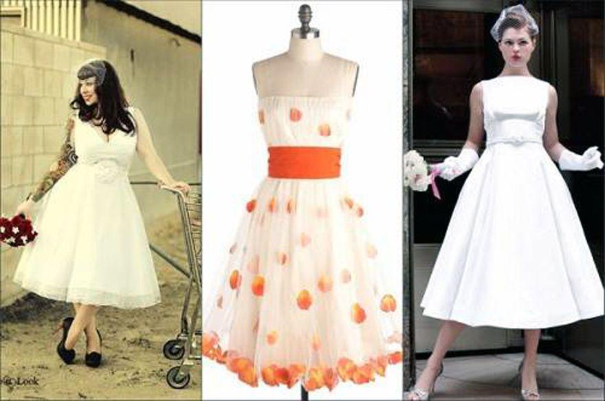 Retro Brautkleider Tee Länge #brautkleider #lange #retro | Kleid ...