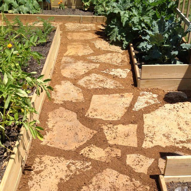 Walkway In My Organic Garden. Love Not Walking On Mud