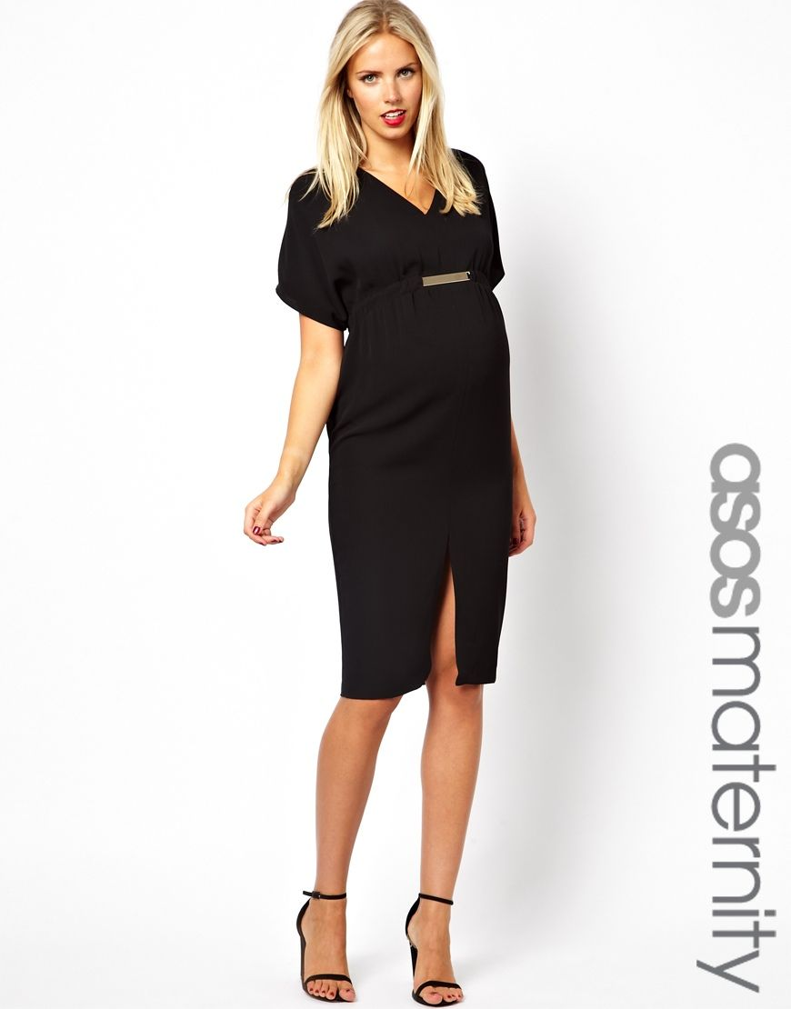Black v neck maternity dress with gold tab detail haute mama discover the latest maternity dresses at asos shop for maternity maxi dresses pregnancy dresses and special occasion maternity dresses online with asos ombrellifo Choice Image