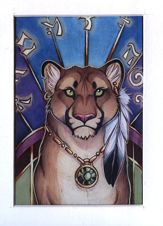 Framed Mini Print Mystic Puma By Cybercatgraphics On Etsy 1000