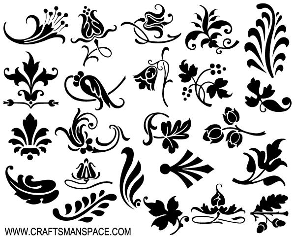 Ornamental Design Elements Vector Free Vector | 1s Flourish Flower ...