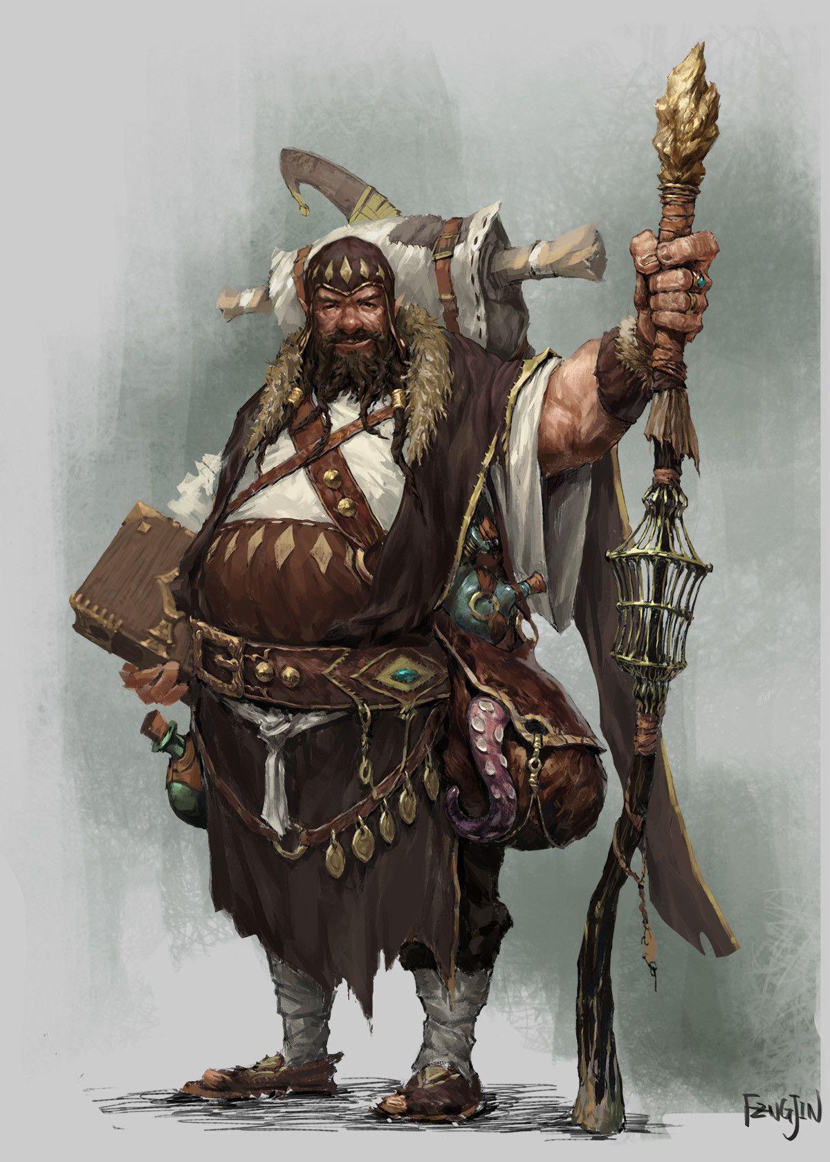 Fantasy Art Foreign Merchant