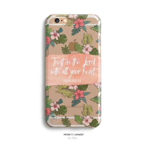 H159 - TRUST IN THE LORD - PROVERBS 3:5 - TPU CLEAR CASE