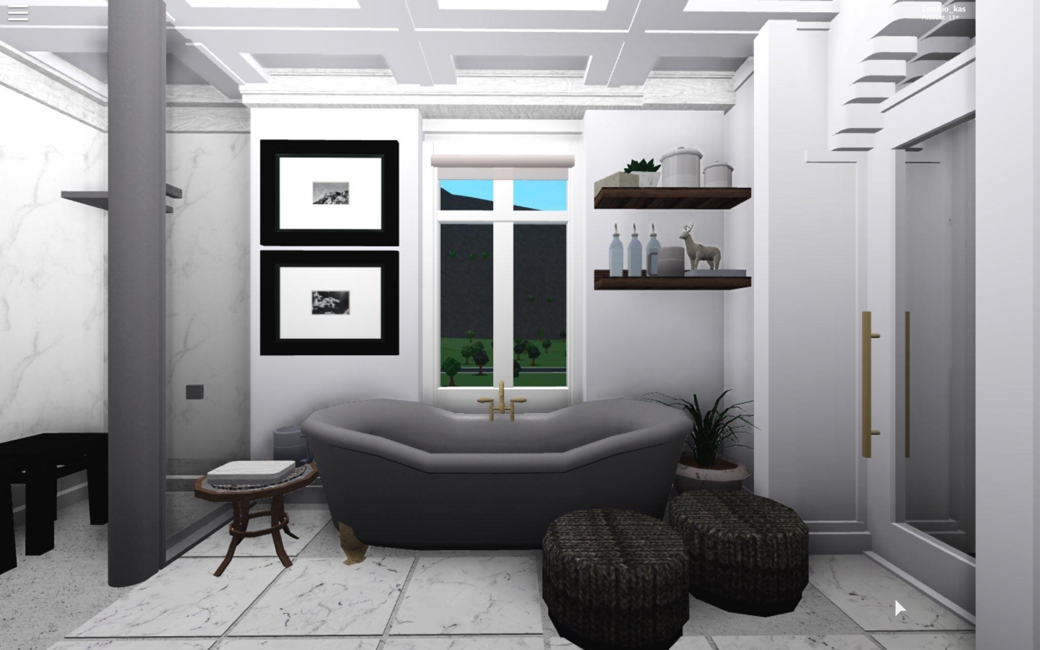Dark Bathroom House Rooms Tiny House Bedroom Small House Design Plans Living room bloxburg bathroom