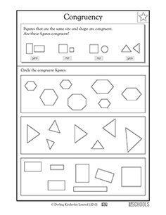 3rd Grade Math Worksheets Congruent Shapes 3rd Grade Math