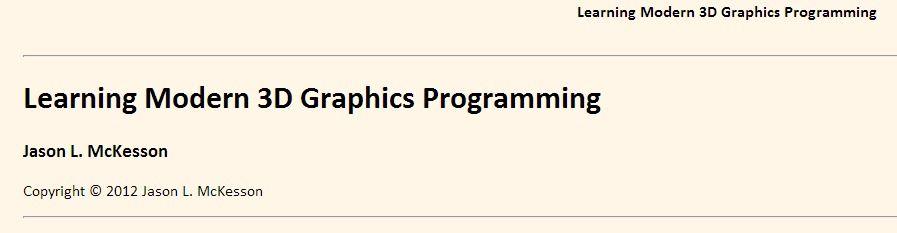 Learning Modern 3D Graphics Programming - Jason L  McKesson