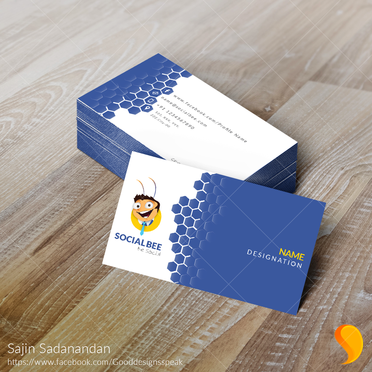 Business # Card # Design Software Used: Adobe ...